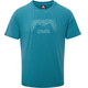 Mountain Equipment Groundup Logo+ Tee Men Tasman Blue